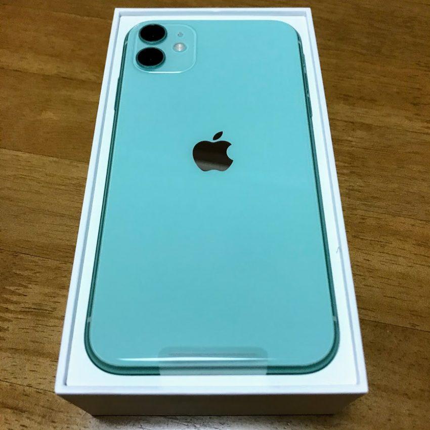 iPhone11新色グリーンの外観