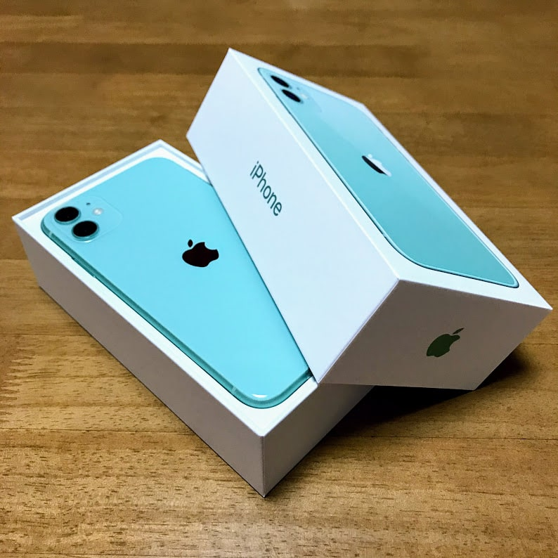 iPhone11新色グリーン開封