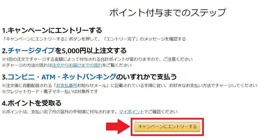 Amaonギフト券チャージ、初回購入で1000円分のポイントが貰えるキャンペーン